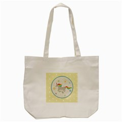 Unicorn Pattern Tote Bag (cream) by Nexatart