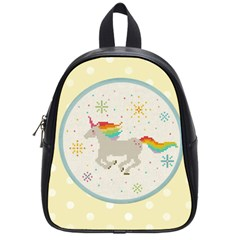 Unicorn Pattern School Bags (small)  by Nexatart