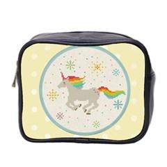 Unicorn Pattern Mini Toiletries Bag 2 Side