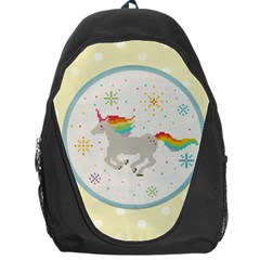 Unicorn Pattern Backpack Bag by Nexatart