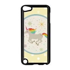 Unicorn Pattern Apple Ipod Touch 5 Case (black) by Nexatart