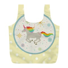 Unicorn Pattern Full Print Recycle Bags (l)  by Nexatart