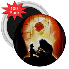 Beauty And The Beast 3  Magnets (100 Pack) by Nexatart