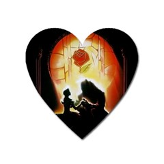 Beauty And The Beast Heart Magnet by Nexatart