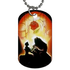 Beauty And The Beast Dog Tag (two Sides) by Nexatart