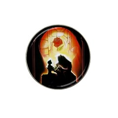 Beauty And The Beast Hat Clip Ball Marker (4 Pack) by Nexatart