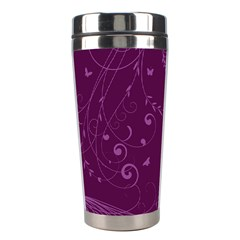 Floral Design Stainless Steel Travel Tumblers by ValentinaDesign