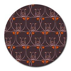 Bears Pattern Round Mousepads by Nexatart