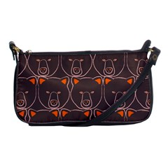 Bears Pattern Shoulder Clutch Bags by Nexatart