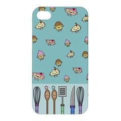 Kawaii Kitchen Border Apple Iphone 4/4s Hardshell Case by Nexatart