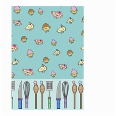 Kawaii Kitchen Border Small Garden Flag (two Sides) by Nexatart