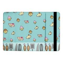 Kawaii Kitchen Border Samsung Galaxy Tab Pro 10 1  Flip Case by Nexatart