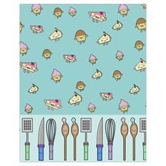Kawaii Kitchen Border Drawstring Bag (small) by Nexatart