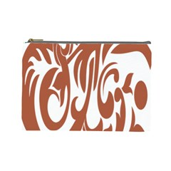 Sign Red Polka Cosmetic Bag (large)  by Mariart