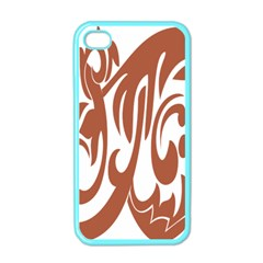 Sign Red Polka Apple Iphone 4 Case (color) by Mariart