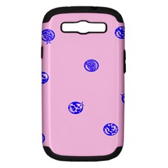 Star Space Balloon Moon Blue Pink Circle Round Polkadot Samsung Galaxy S Iii Hardshell Case (pc+silicone) by Mariart