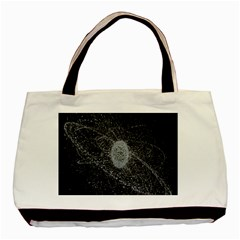 Space X Circle Line Black Basic Tote Bag by Mariart