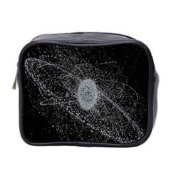 Space X Circle Line Black Mini Toiletries Bag 2 Side by Mariart