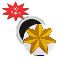 Star Yellow Blue 1 75  Magnets (10 Pack)  by Mariart