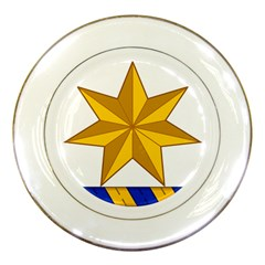 Star Yellow Blue Porcelain Plates by Mariart