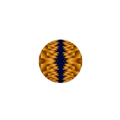 Plaid Blue Gold Wave Chevron 1  Mini Buttons by Mariart