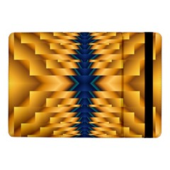Plaid Blue Gold Wave Chevron Samsung Galaxy Tab Pro 10 1  Flip Case by Mariart