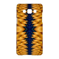 Plaid Blue Gold Wave Chevron Samsung Galaxy A5 Hardshell Case  by Mariart