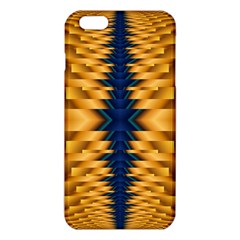 Plaid Blue Gold Wave Chevron Iphone 6 Plus/6s Plus Tpu Case by Mariart