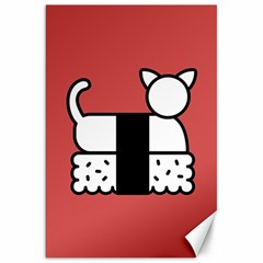 Sushi Cat Japanese Food Canvas 20  X 30   by Mariart