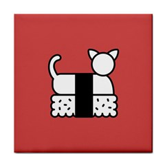 Sushi Cat Japanese Food Face Towel by Mariart