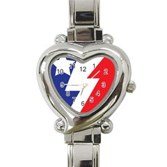Three Colors Blue White Line Star Heart Italian Charm Watch by Mariart