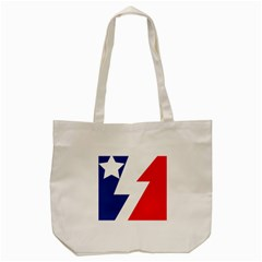 Three Colors Blue White Line Star Tote Bag (cream) by Mariart