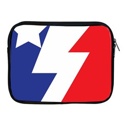 Three Colors Blue White Line Star Apple Ipad 2/3/4 Zipper Cases by Mariart