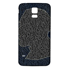 Sherlock Quotes Samsung Galaxy S5 Back Case (white) by Mariart