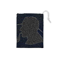 Sherlock Quotes Drawstring Pouches (small)  by Mariart