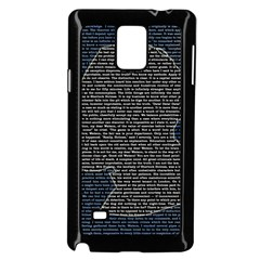 Sherlock Quotes Samsung Galaxy Note 4 Case (black) by Mariart