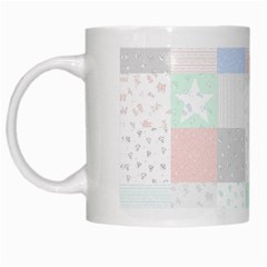 Sweet Dreams Rag Quilt White Mugs by Mariart