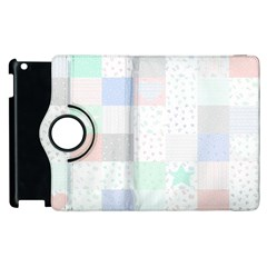 Sweet Dreams Rag Quilt Apple Ipad 3/4 Flip 360 Case by Mariart