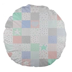 Sweet Dreams Rag Quilt Large 18  Premium Flano Round Cushions by Mariart