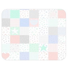Sweet Dreams Rag Quilt Double Sided Flano Blanket (medium)  by Mariart