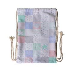 Sweet Dreams Rag Quilt Drawstring Bag (small) by Mariart