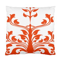 Tree Leaf Flower Orange Sexy Star Standard Cushion Case (two Sides) by Mariart