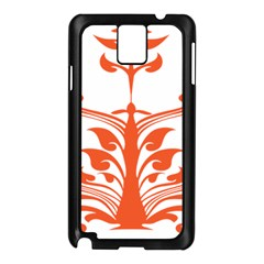Tree Leaf Flower Orange Sexy Star Samsung Galaxy Note 3 N9005 Case (black) by Mariart
