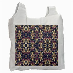 Multicolored Modern Geometric Pattern Recycle Bag (one Side) by dflcprints