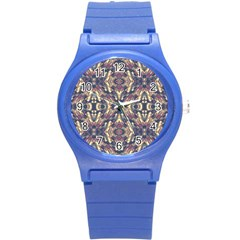 Multicolored Modern Geometric Pattern Round Plastic Sport Watch (s) by dflcprints
