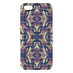 Multicolored Modern Geometric Pattern Apple Iphone 5 Premium Hardshell Case by dflcprints