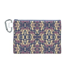 Multicolored Modern Geometric Pattern Canvas Cosmetic Bag (m) by dflcprints