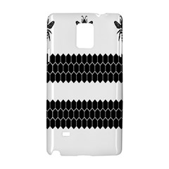 Wasp Bee Hive Black Animals Samsung Galaxy Note 4 Hardshell Case by Mariart