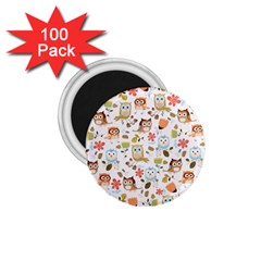 Cute Owl 1 75  Magnets (100 Pack)  by Nexatart