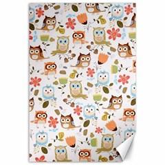Cute Owl Canvas 24  X 36  by Nexatart